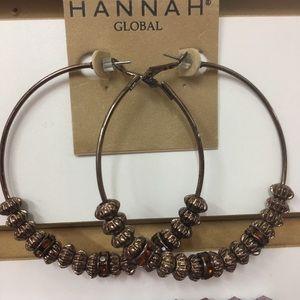 Hannah Jewelry - ʜᴀɴɴᴀʜ ʙʀᴏɴᴢᴇ sᴘᴀʀᴋʟᴇ ʜᴏᴏᴘ ᴇᴀʀʀɪɴɢ
